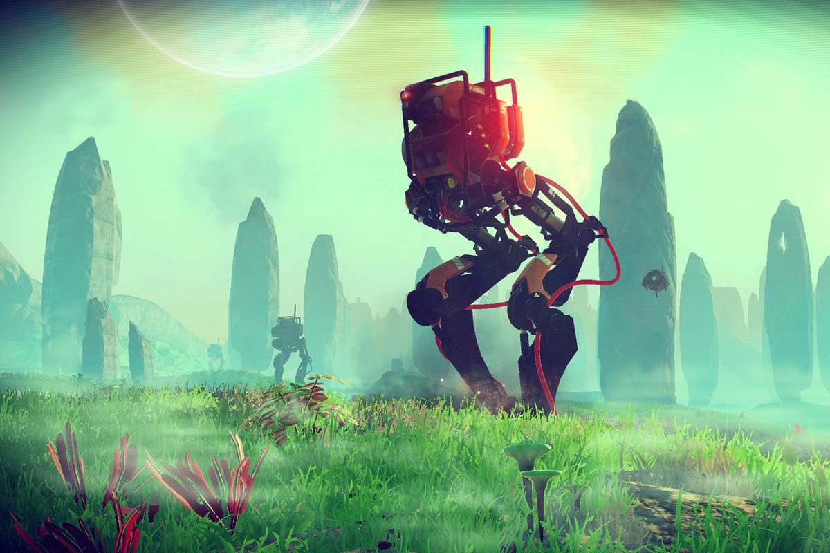 No Man's Sky - a Sentinel walker