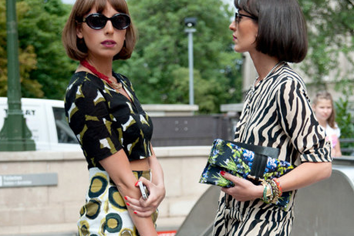 Likuna Karkashadze and Natuka Karkashadze at Paris Haute Couture Fashion Week Fall 2012, via Getty