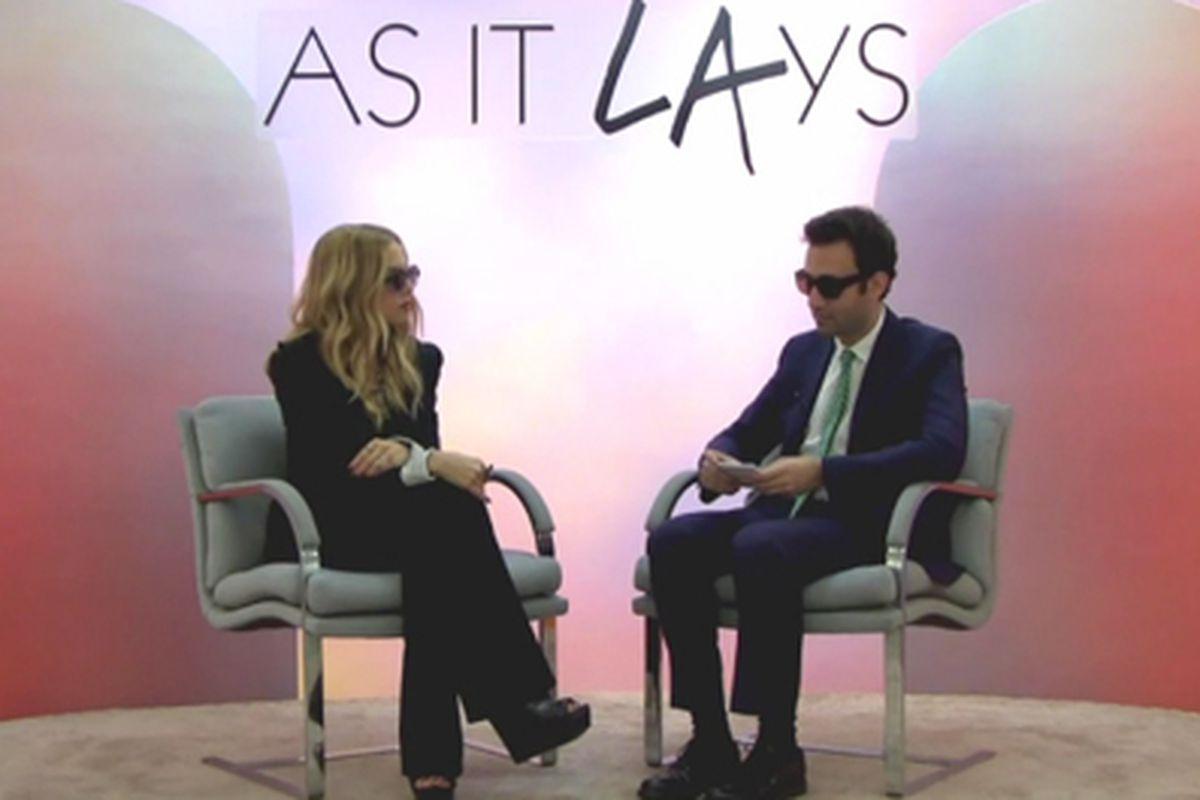 """Rachel Zoe on As It Lays. Video still via <a href=""""http://purple.fr/television/art/as-it-lays-alex-israel-x-rachel-zoe"""">Purple.fr</a>."""