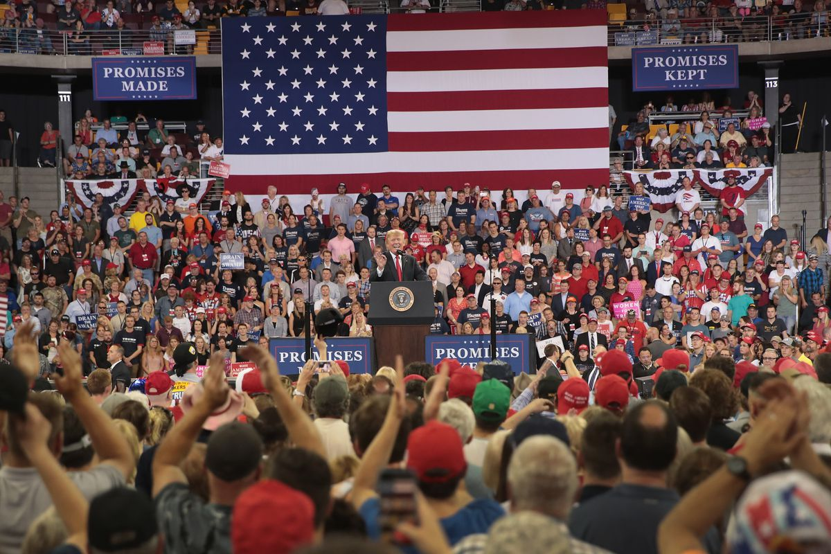 Donald Trump Holds Rally In Duluth, Minnesota