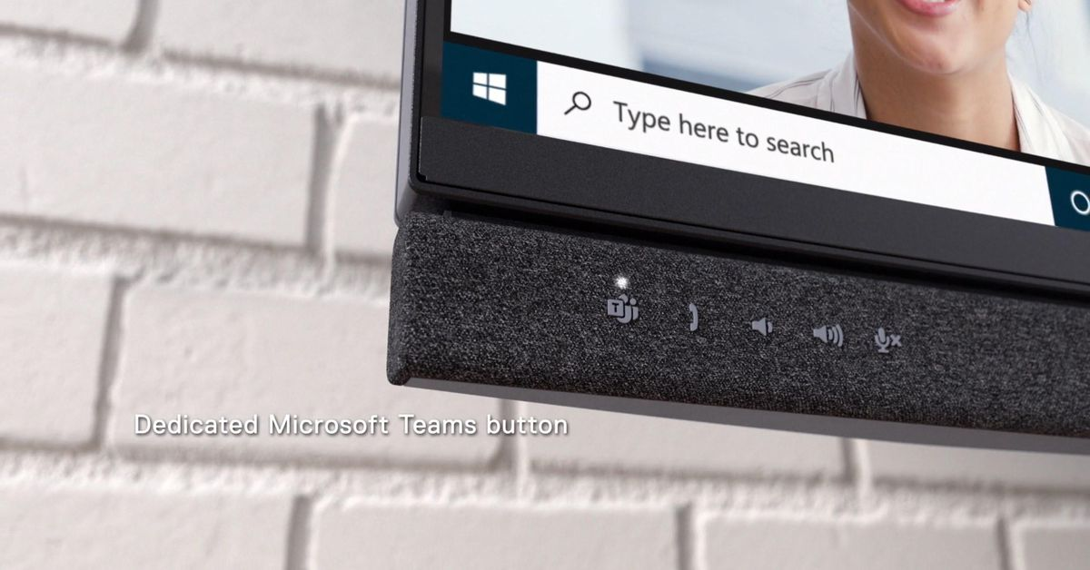 Dell's new monitors have a dedicated Microsoft Teams button thumbnail