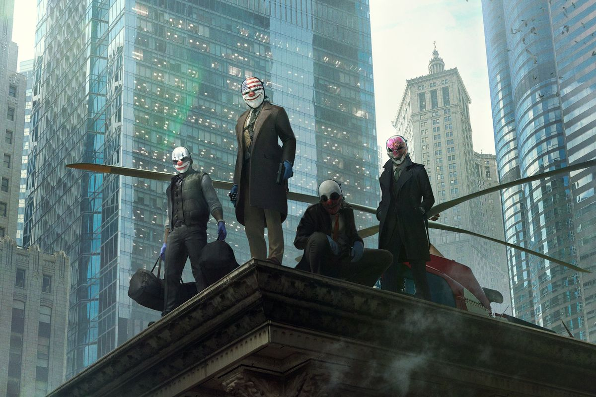 Artwork of the crew from Payday 3