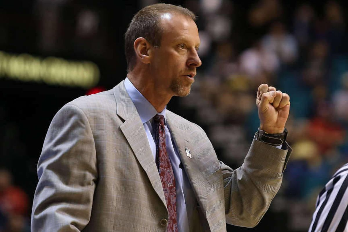Utah coach Larry Krystkowiak the University of Utah defeats University of Washington 67-61in the first round of the PAC 12 men's basketball tournament Wednesday, March 12, 2014, in Las Vegas.