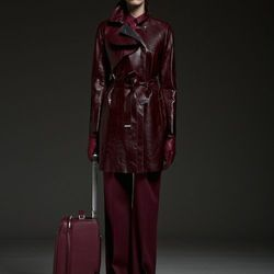 The collection is dominated by black, with a pop of burgundy here and there.