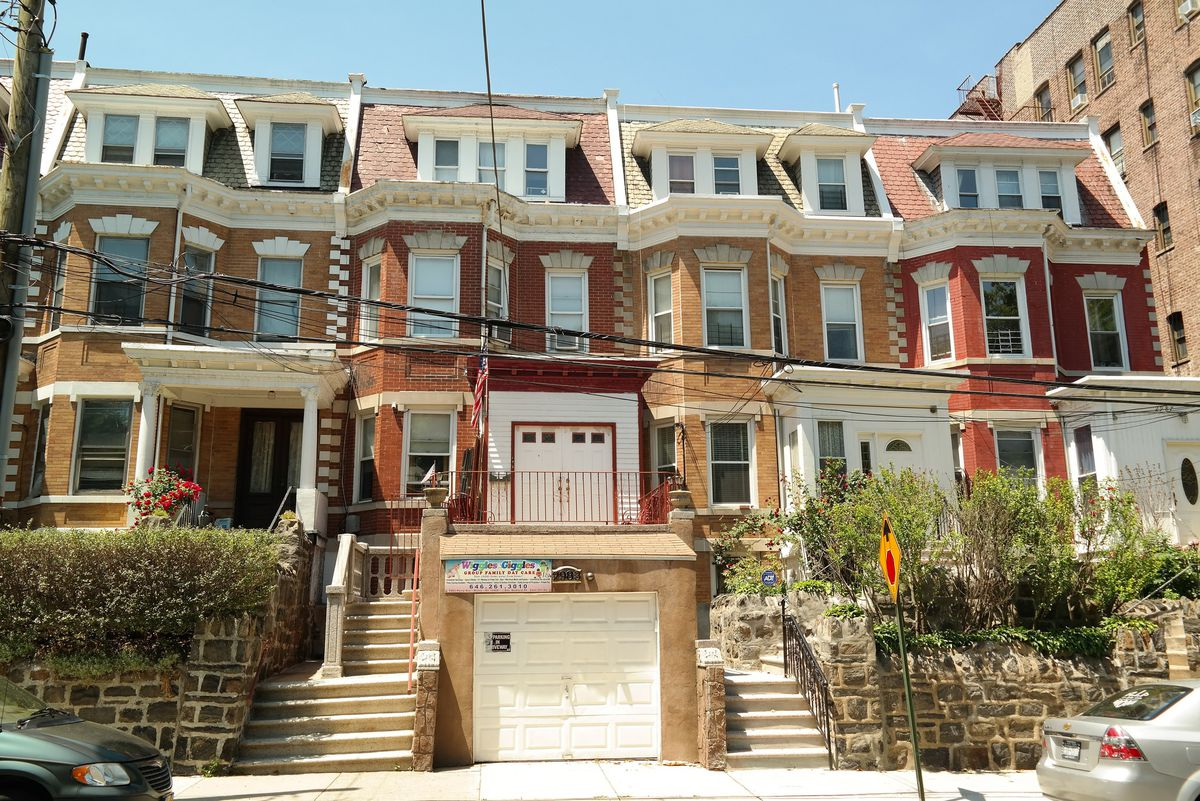 Houses in the Perry Avenue Historic District in Bedford Park, The Bronx