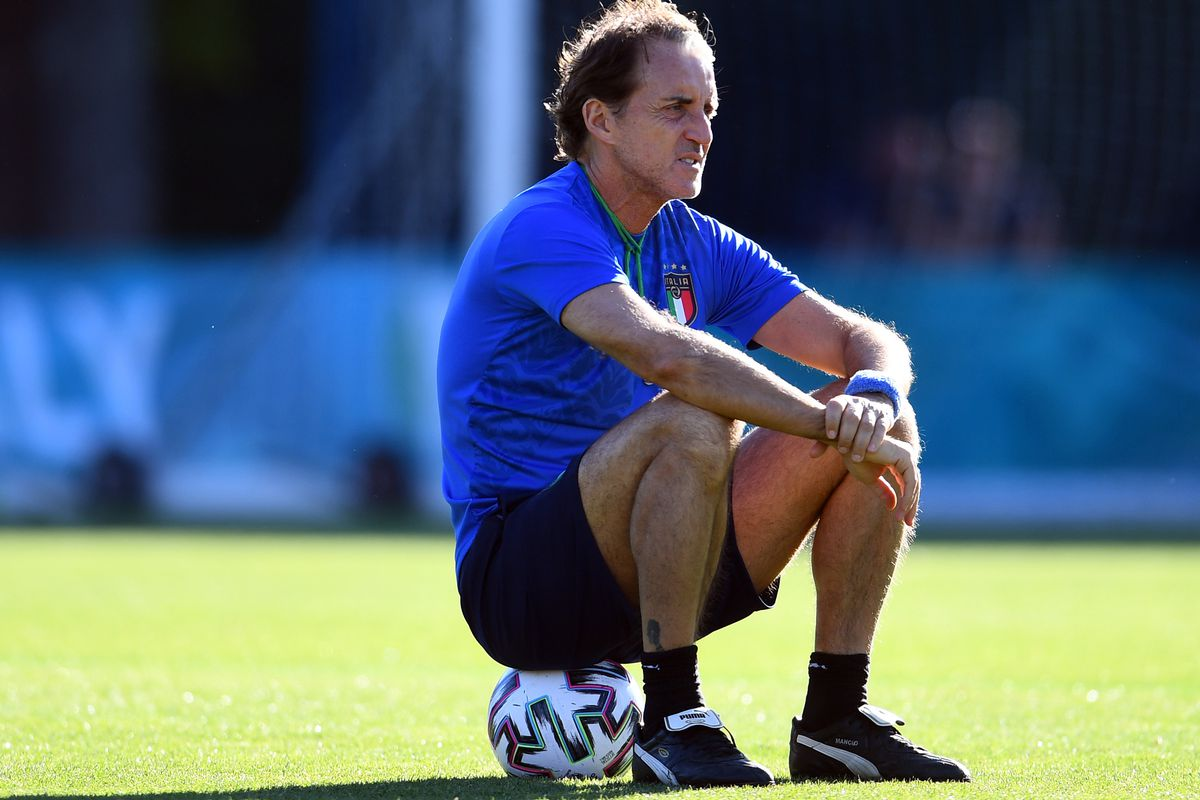 Roberto Mancini - Italy Training Session And Press Conference - Euro 2020