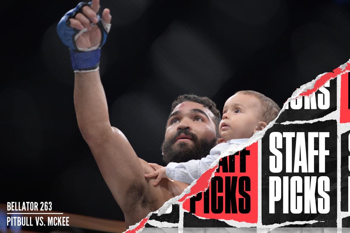 Patricio Pitbull and his child at Bellator 178.