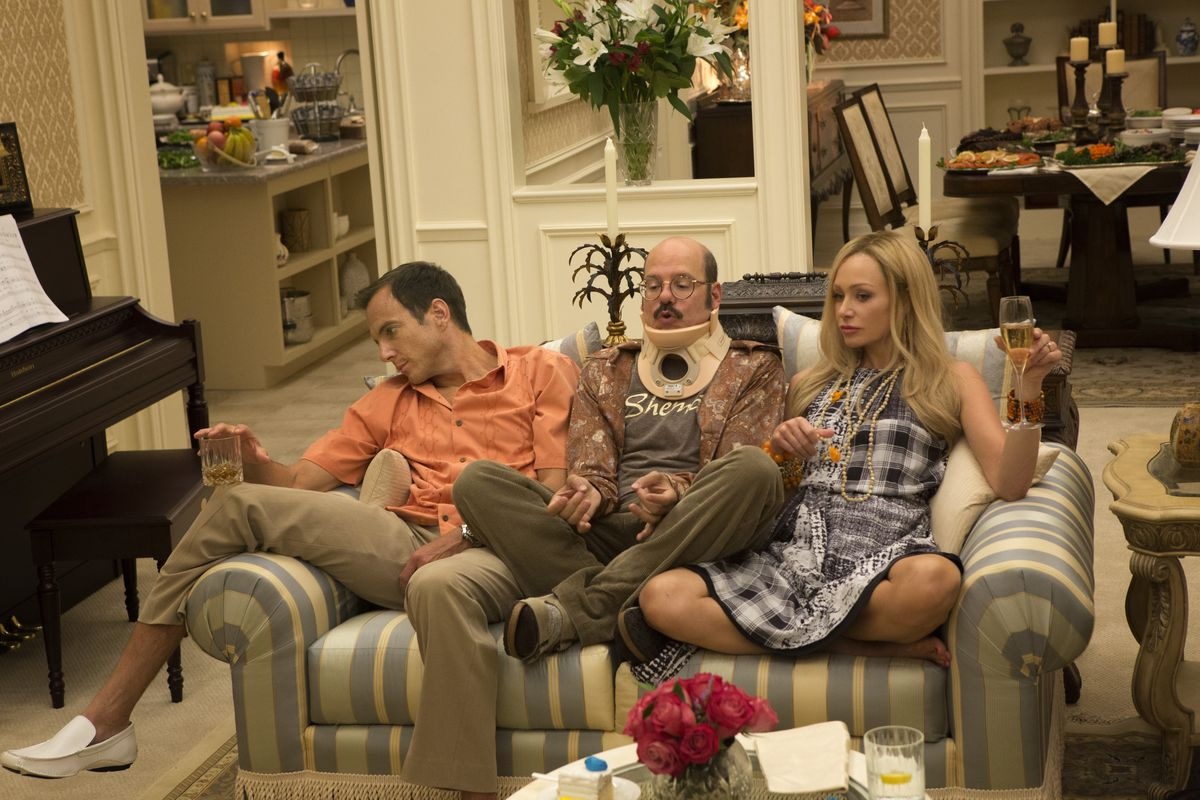 gob, tobias, and lindsey in arrested development season 4