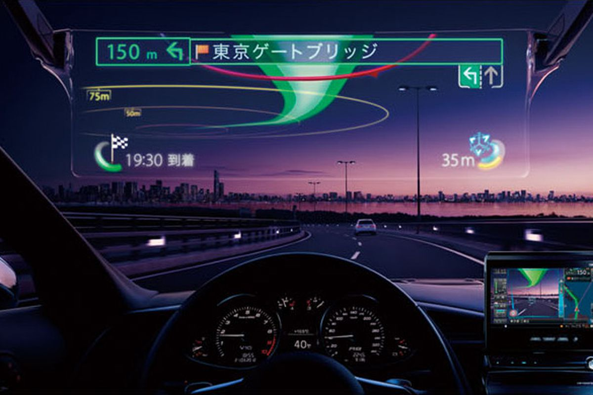 Pioneer's laser-projected car HUD lets you drive like RoboCop - The Verge
