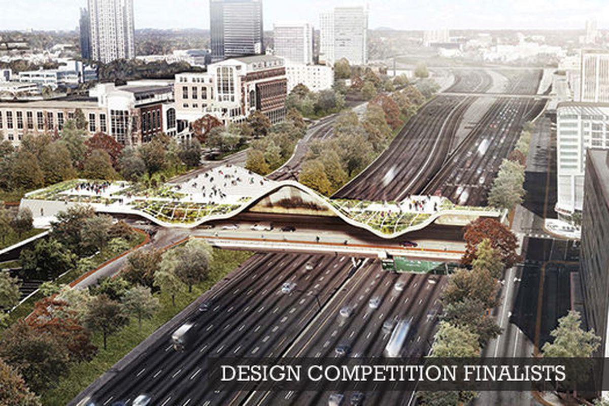 [Renderings, photos: Atlanta Bridgescape Competition]