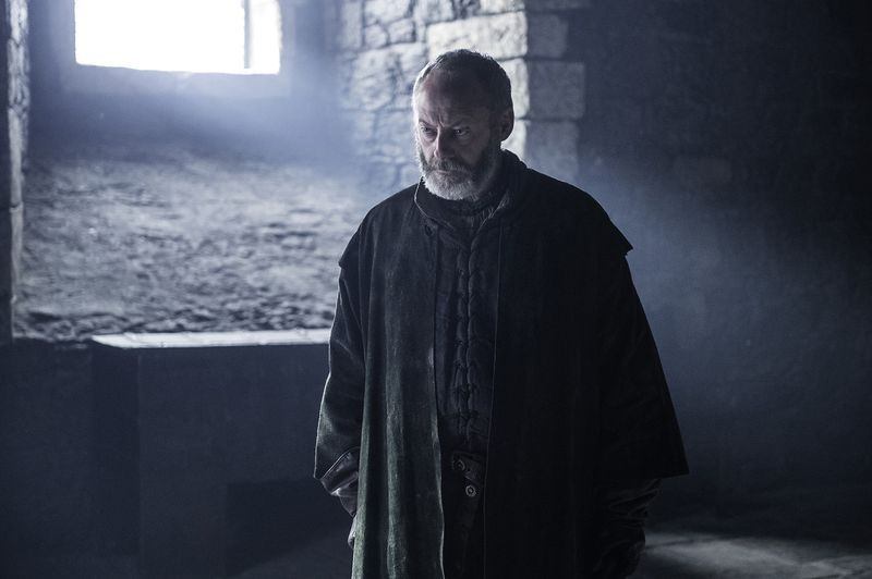 Davos Seaworth on Game of Thrones.