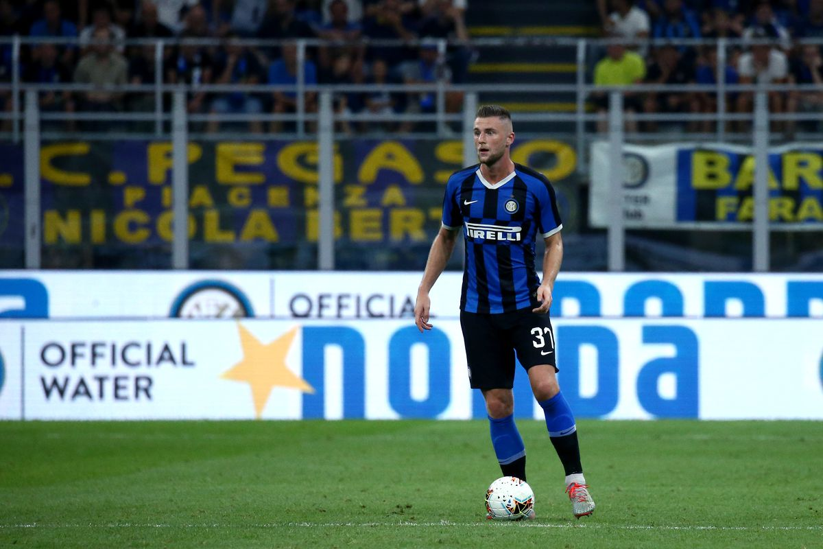 Milan Skriniar of FC Internazionale in action during the...