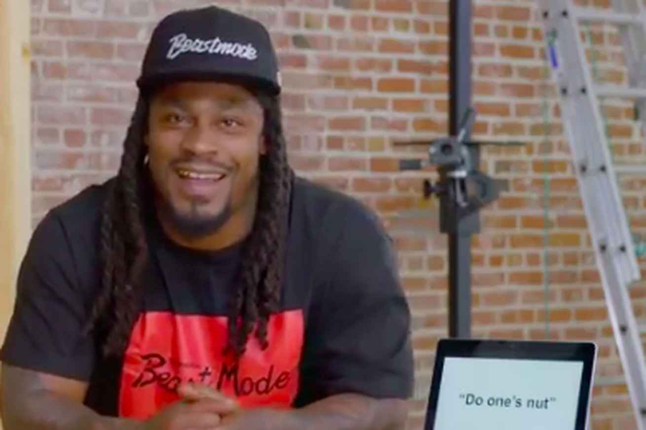 19c234f57 Marshawn Lynch trying to understand British slang is an utter delight