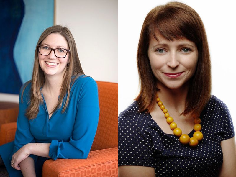 Suzy Hobbs Baker (l) and Jessica Lovering (r).