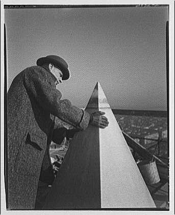 """Photographer Theodor Horydczak checks out the """"precious"""" metal."""