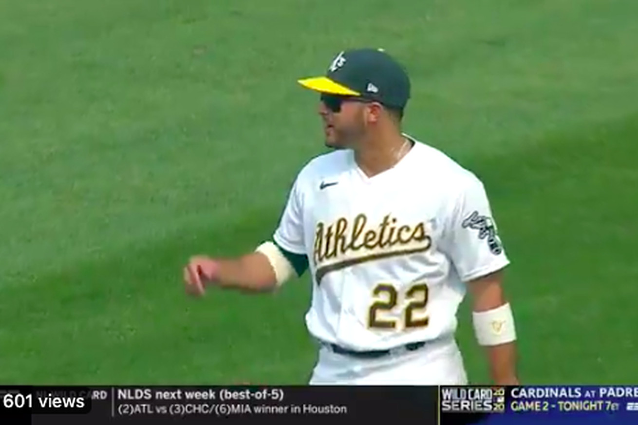 Screen Shot 2020 10 01 at 5.26.52 PM.0 - Ramon Laureano's F-bomb live on TV was the best moment of the MLB postseason so far
