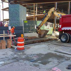 10:55 a.m. Excavation on Waveland -