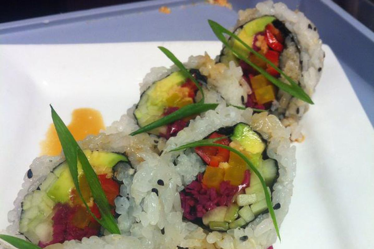 One of Craft Work's new sushi rolls.
