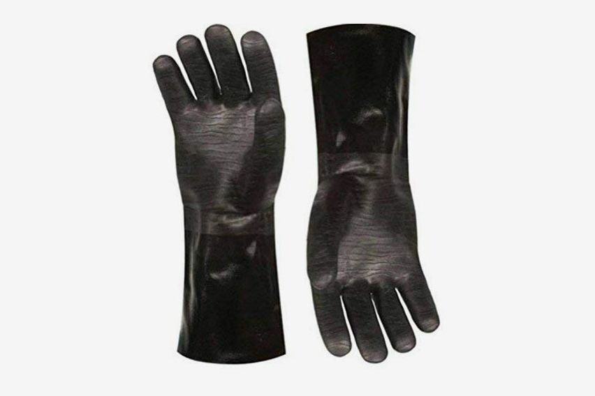 A pair of black gloves