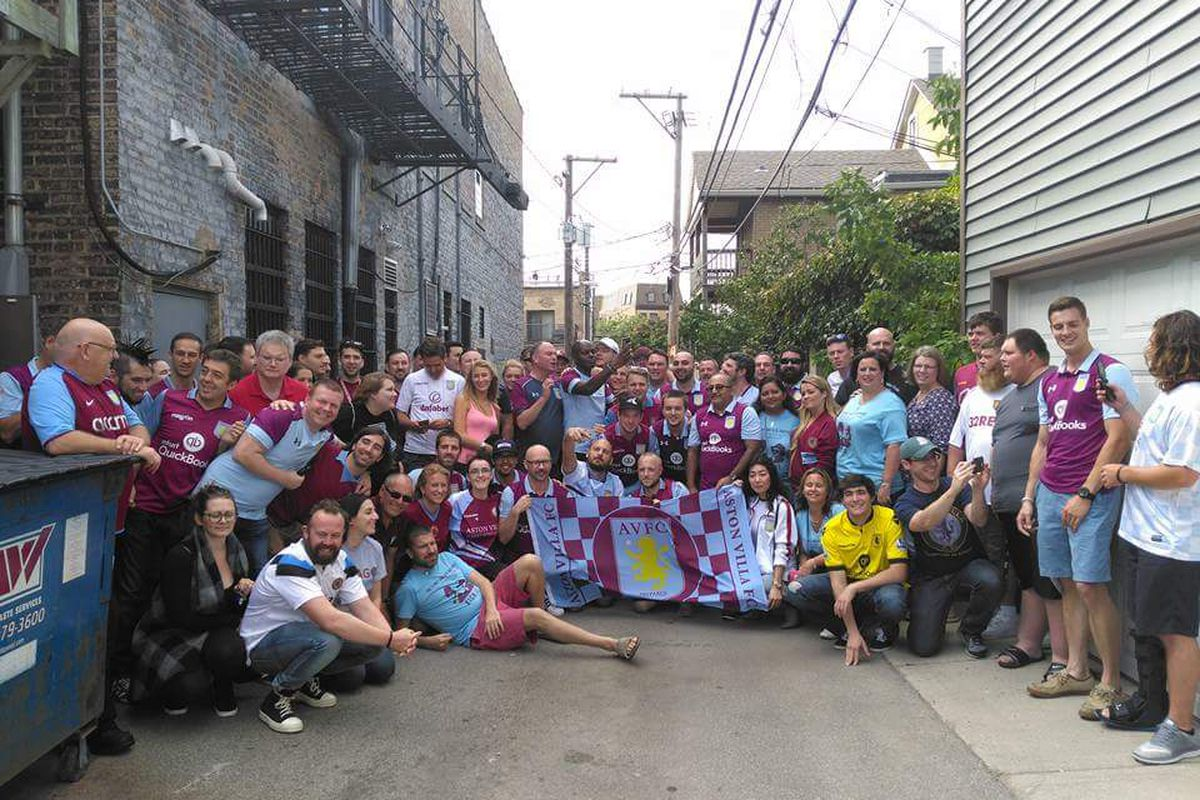 Villa fans in Chicago
