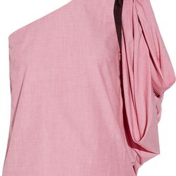 Rosie Assoulin's voluminous blouse is definitive proof that not all drape-y one shoulder silhouettes belong at Greek Week.