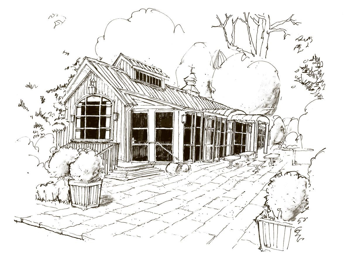 Rendering of the Chastain restaurant opening in the former Horseradish Grill space in Chastain Park Atlanta