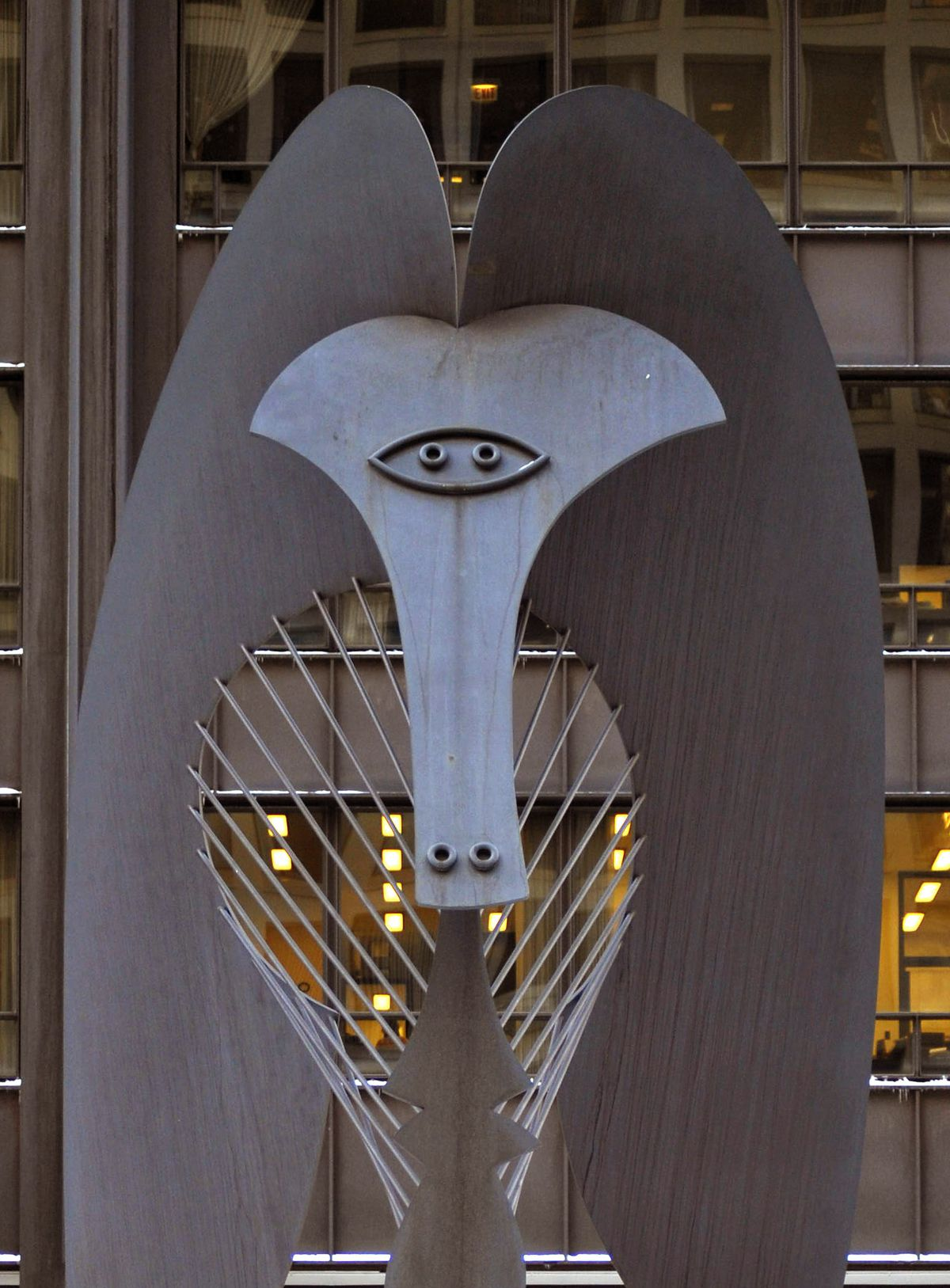 The Picasso sculpture in Daley Plaza. | Sun-Times archive