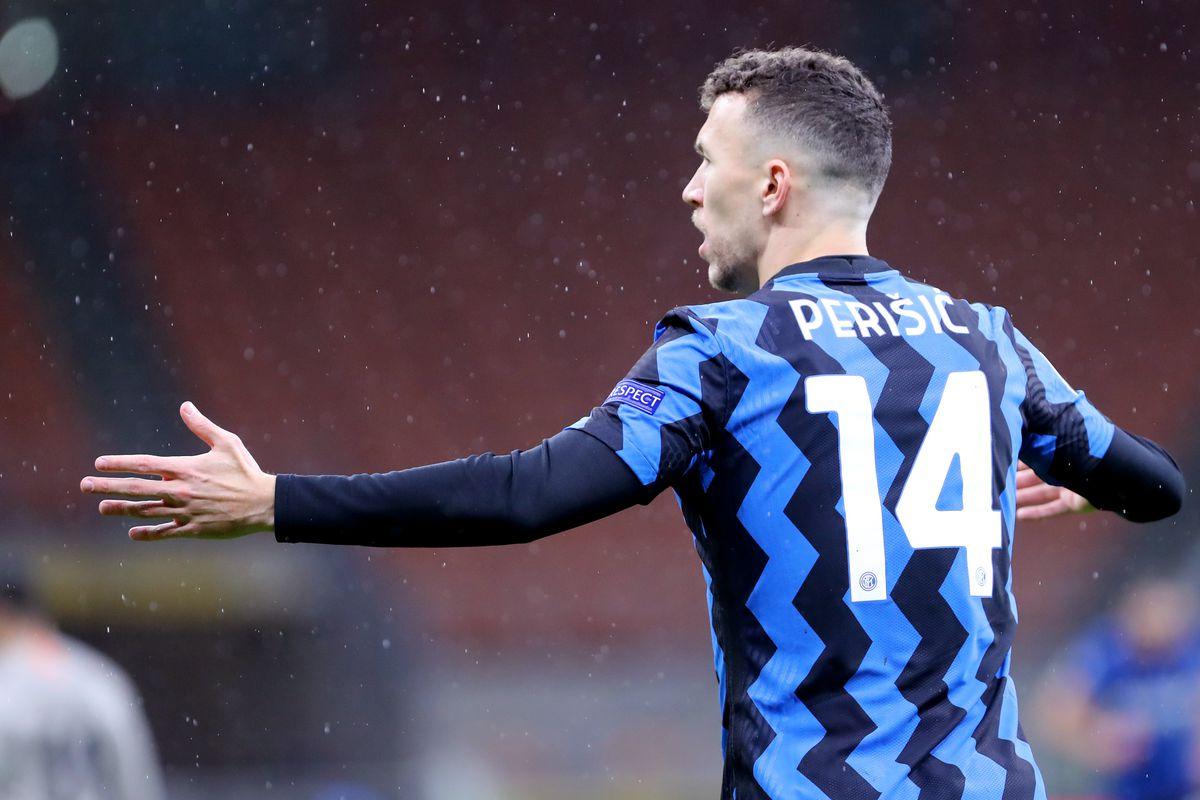 Ivan Perisic of Fc Internazionale gestures during the Uefa...