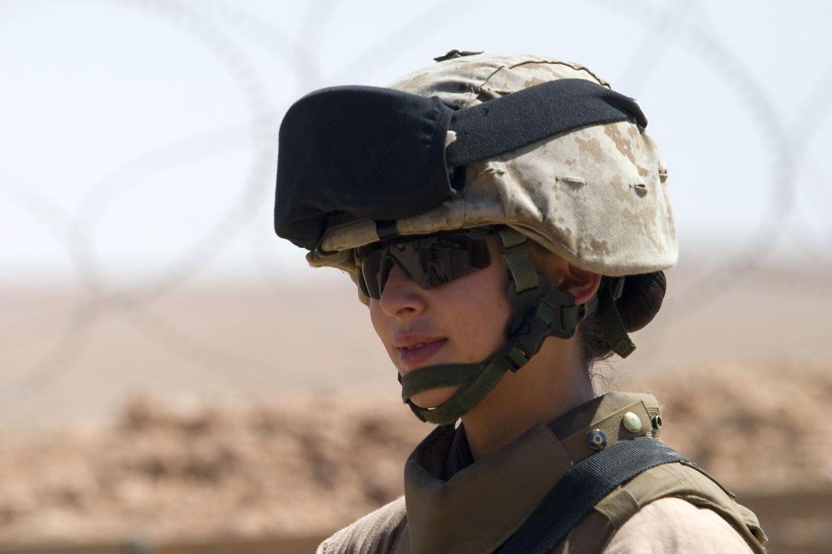 female US Marine