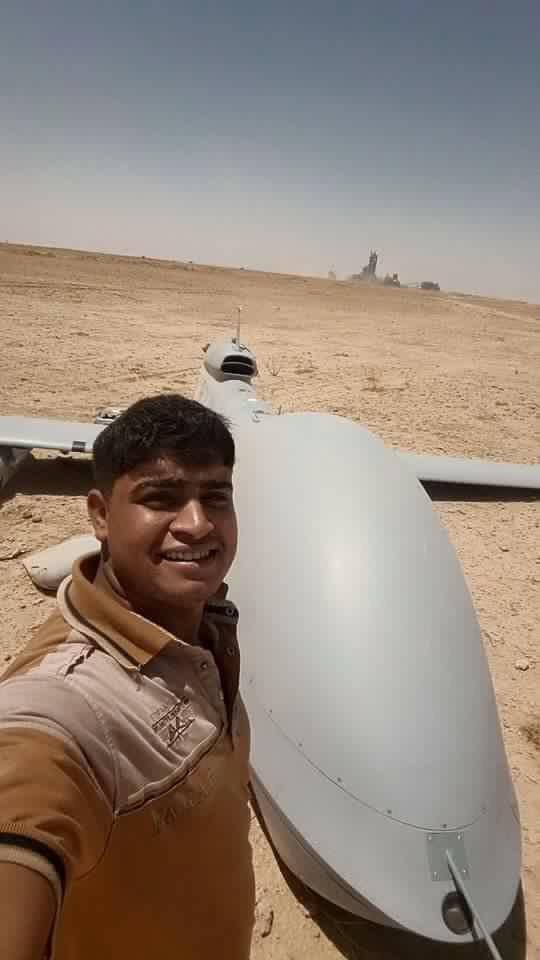 US surveillance drone crashes in Iraq, selfie ensues