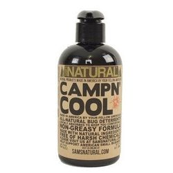 """<b>Sam's Natural</b> Campn Cool DEET-Free Bug Deterrent and Soother, <a href=""""http://www.samsnatural.com/collections/lotion/products/campn-cool-deet-free"""">$11.95</a>"""