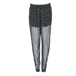 "<a href=""http://www.ronherman.com/Chiffon-Polka-Dot-Zipper-Pants/p/1070468?cid=950&idx=8&sid=995&source=shopstyle""> Enza Costa chiffon side zip polka dot pants</a>, $150 ronherman.com"