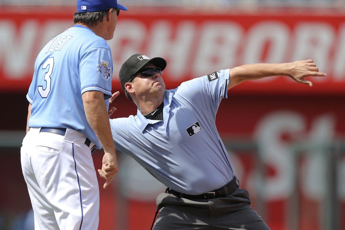 Like the umpire, Ned Yost has annoyed many of us lately.