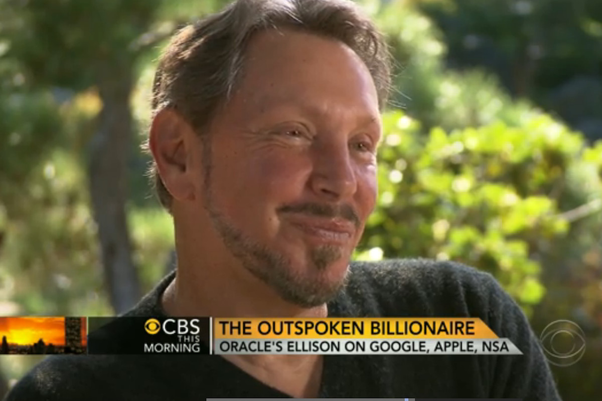 Oracle CEO Larry Ellison on CBS This Morning (Credit: CBS)