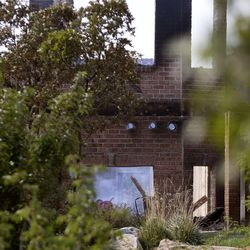 A home on Bybee Road is destroyed in Ogden on Wednesday, Sept. 6, 2017. At least six structures, including multiple homes, have been destroyed after a brush fire erupted in Weber Canyon Tuesday morning.
