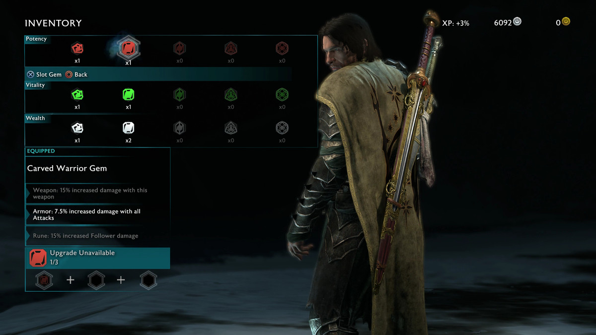 Middle-earth: Shadow of War guide: Inventory, gear, upgrades