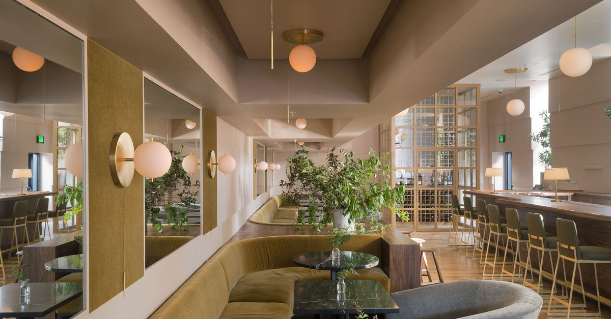 Dazzling wine bar draws inspiration from Art Deco architecture