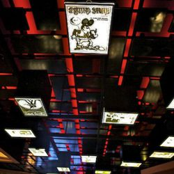 Upstairs restaurant ceiling.