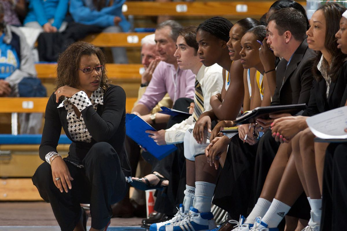 """Coach Caldwell's Bruins are off to a good start in 2009-10 season (9-4 over all, 2-0 in the Pac-10), Photo Source: <a href=""""http://www.today.ucla.edu/portal/ut/a-team-of-her-own-85059.aspx"""" target=""""new"""">UCLA Today</a>"""