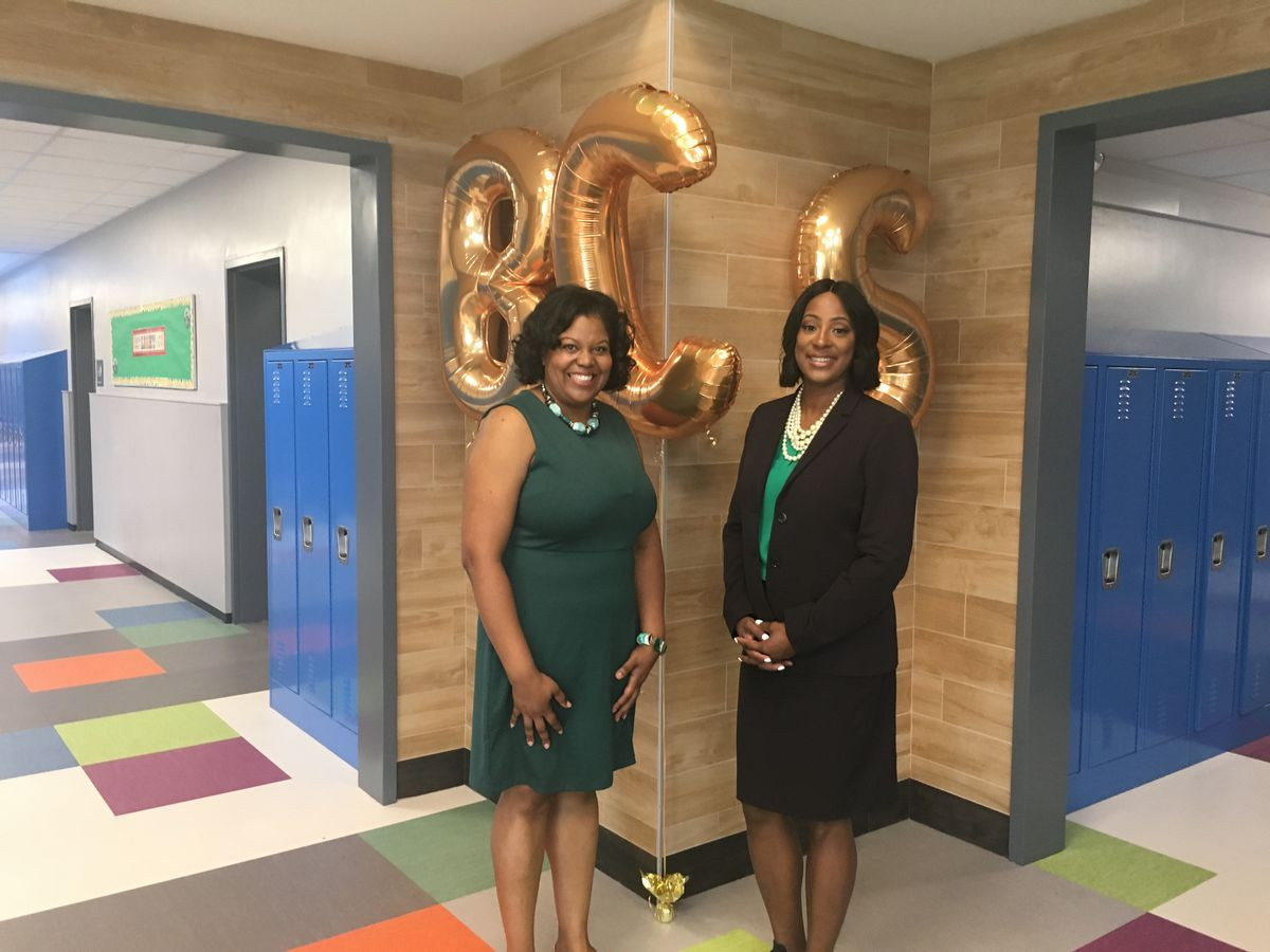 Assistant principal Raven Talley and principal Nicole Spicer