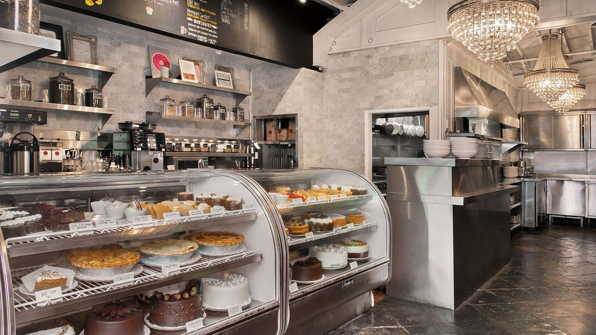 The Abbey's bakery display in West Hollywood, California.