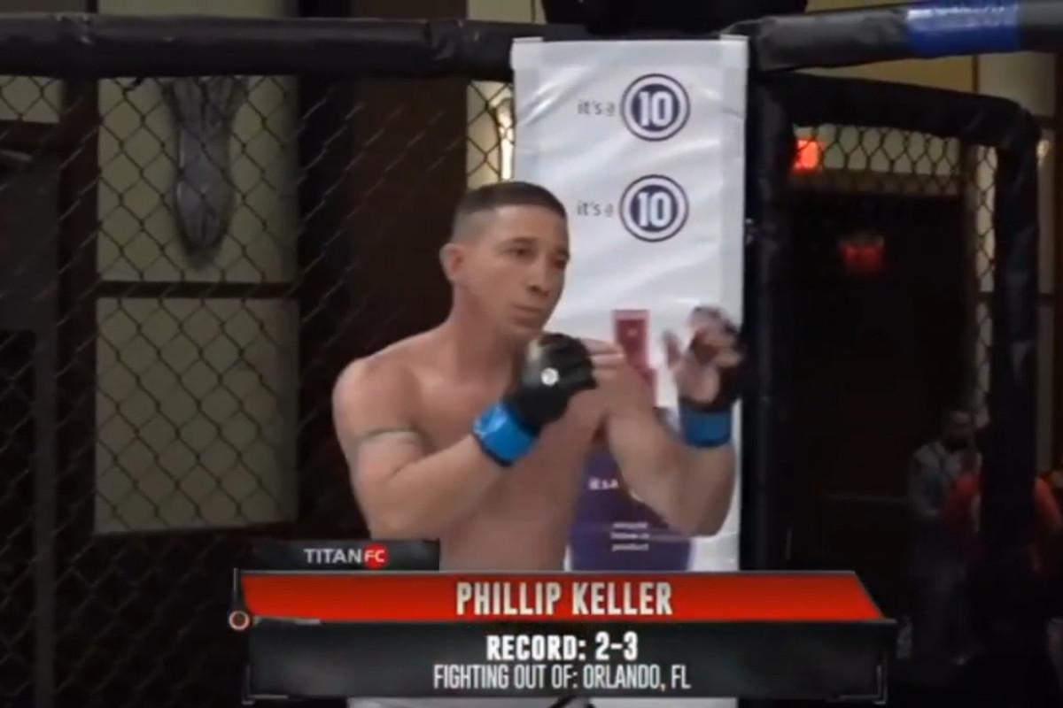 Phillip Keller when he fought Christian Ynastrilla at Titan FC 61 in June 2020.