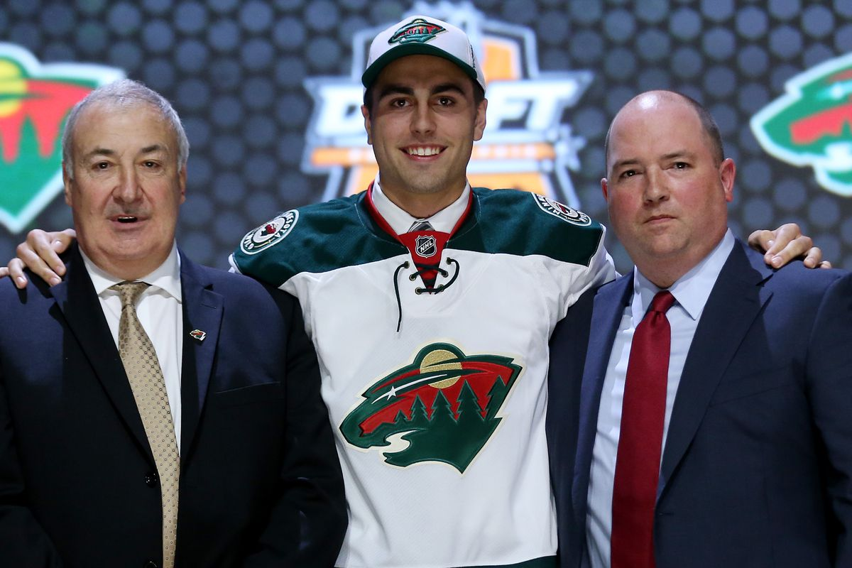 With the 18th pick, the Wild select Alex Tuch.