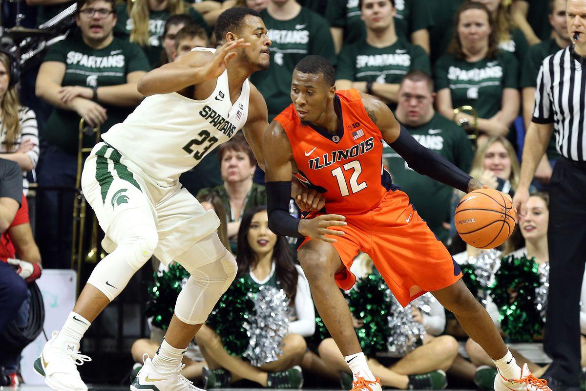 NCAA Basketball: Illinois at Michigan State