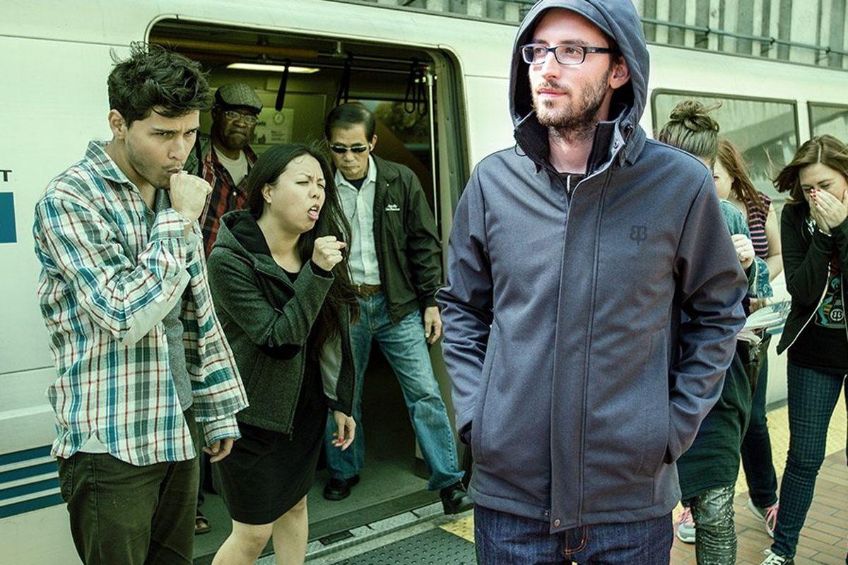 "Germinator Transit Jacket, $248. Image via <a href=""http://www.betabrand.com/think-tank/crowdfunding/mens-germ-defense-transit-commuter-jacket.html"">Betabrand</a>"