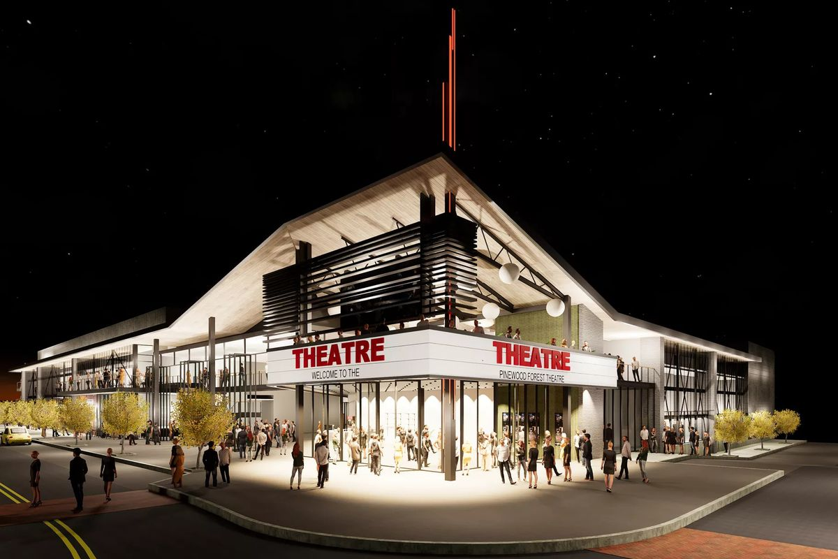 A rendering of the planned theater.