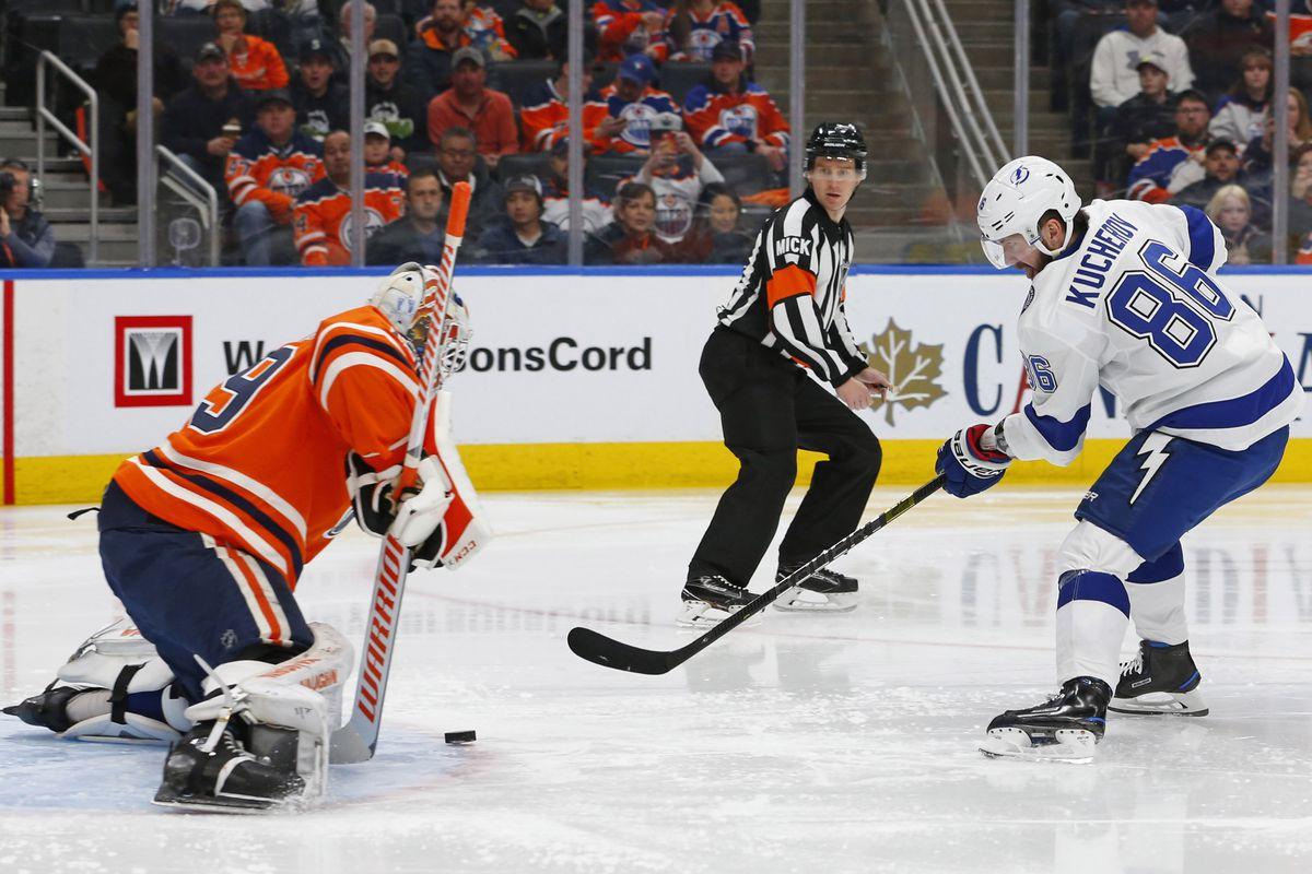 NHL: Tampa Bay Lightning at Edmonton Oilers