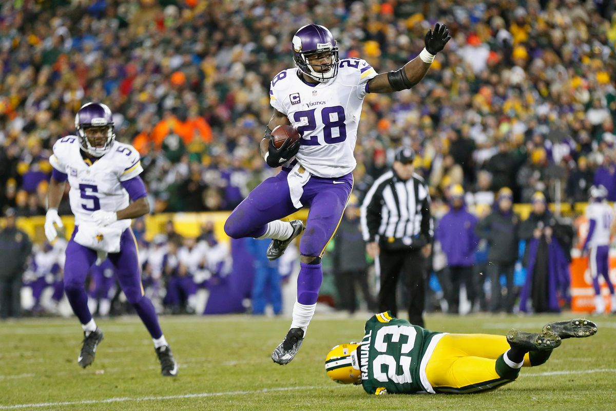 2abc9b70baf NFL 2015 schedule and results  Vikings beat Packers in Green Bay to win NFC  North