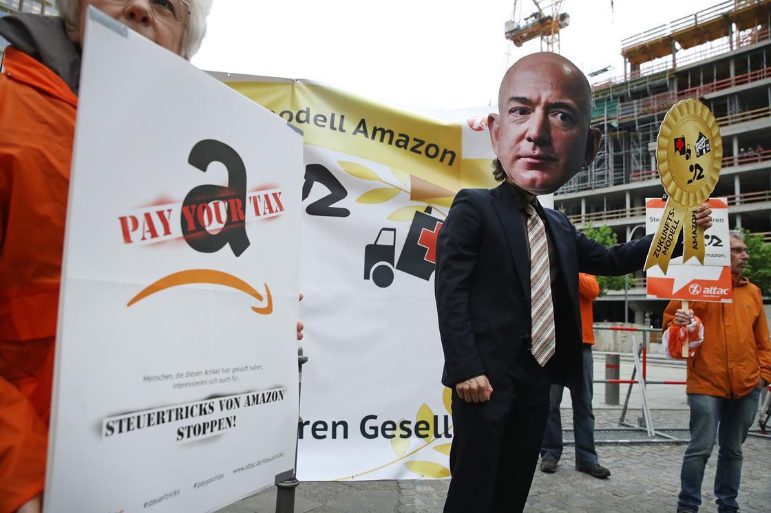 Striking Amazon workers