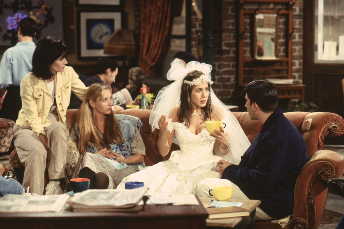 """You, too, can sit on Central Perk's most iconic piece of furniture — just like Courtney Cox Arquette as Monica, Lisa Kudrow as Pheobe, Jennifer Aniston as Rachel and David Schwimmer as Ross did on the hit TV series """"Friends."""""""